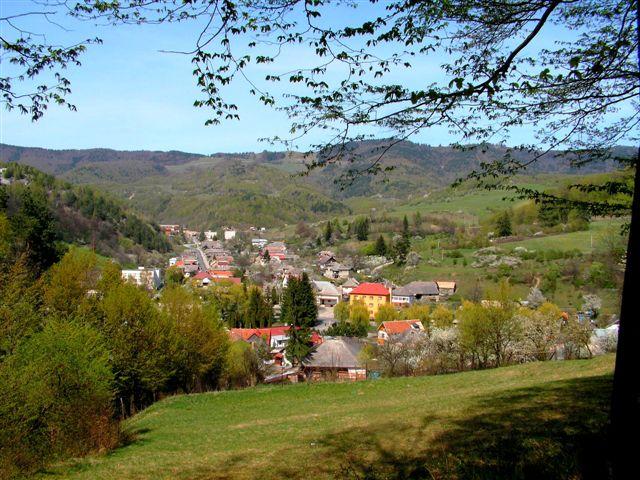 Vlčia dolina  s pozadím Dobšinského kopca a Gúgla