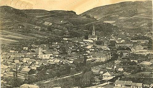Dobšiná pohľad na mesto asi  po roku 1920