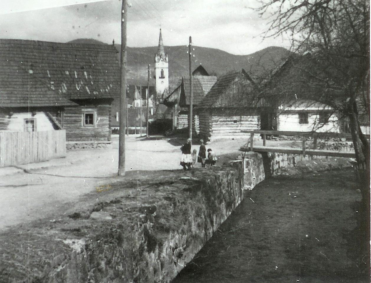Dobšiná domy na Tureckej ulici pred r.1950